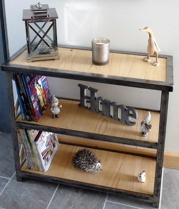 Bibliothèque bois-métal